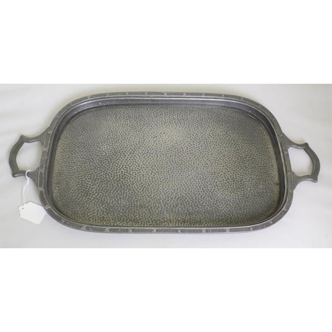 Vintage English Sheffield  Hammered Pewter Tray