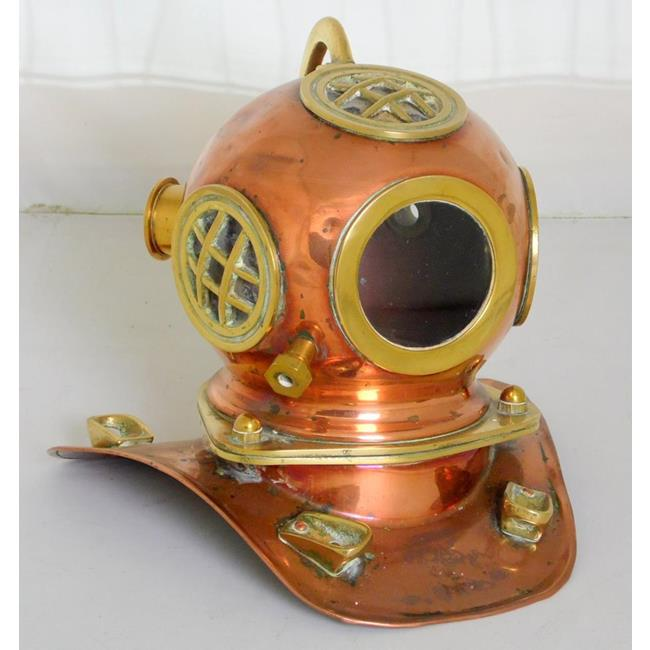 Vintage Miniature Copper and Brass Divers Helmet