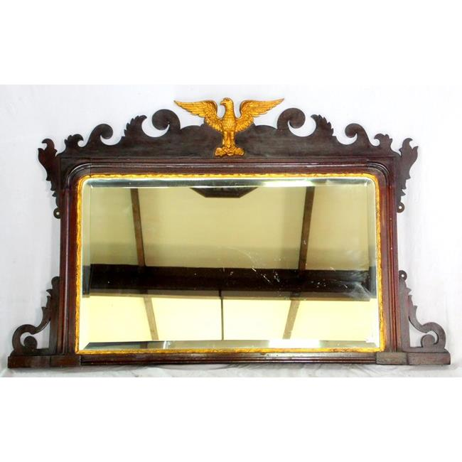 Regency Country House Mahogany Overmantle Mirror.