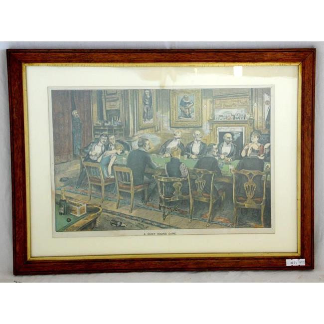 Antique Print 'A Quiet Round Game'Royal Scandal