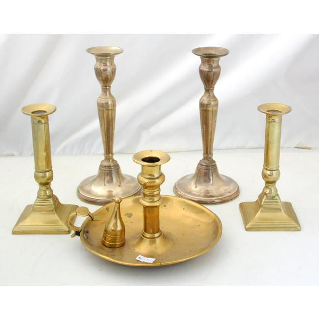 Collection of Georgian Brass Candlesticks
