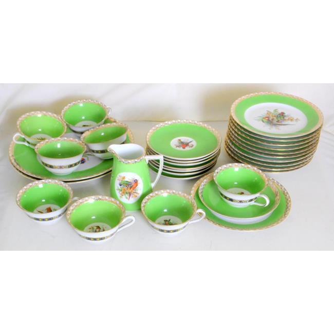 Epiag Bird of Paradise Fine China Tea Set.