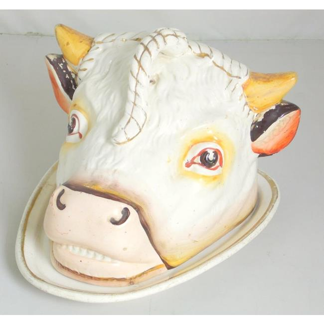 Staffordshire Bull Head Cheese Dish and Cover19thc