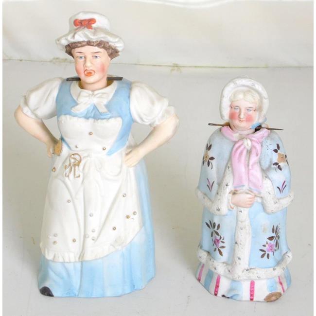 Victorian German Bisque Nodding Head Figurines