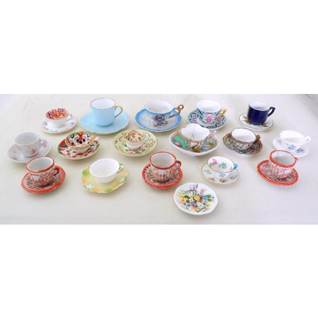 Collection of Antique Miniature Duos and Plates