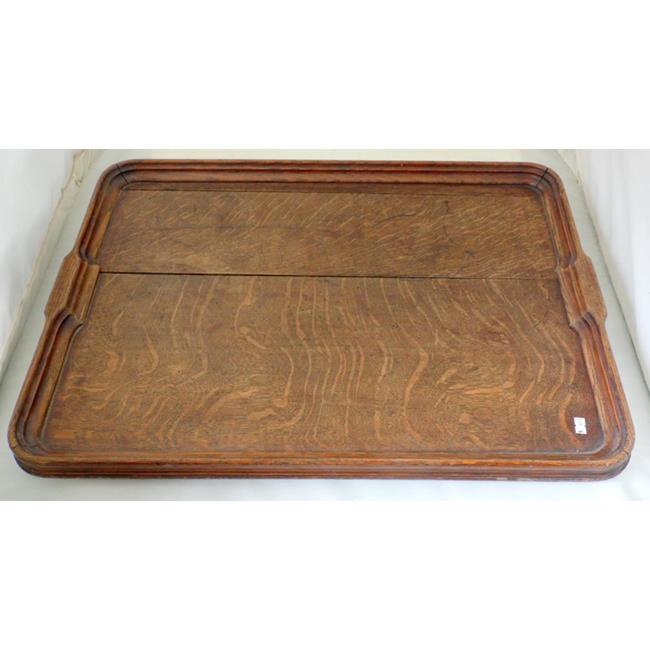 Large Victorian Oak Butlers Tray. 19th.c