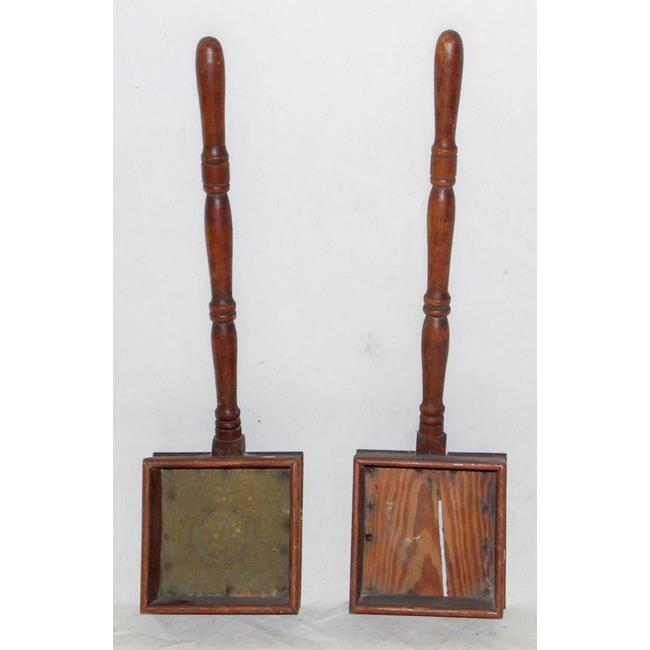 A Pair of Antique Treen Church Collection Boxes