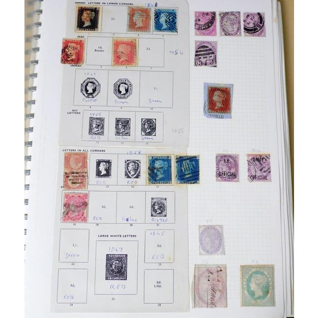 Great Britain Stamp Collection from 1d Black