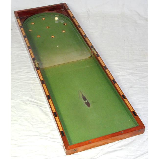 Victorian Table Top Mahogany Bagatelle Game. 19thc