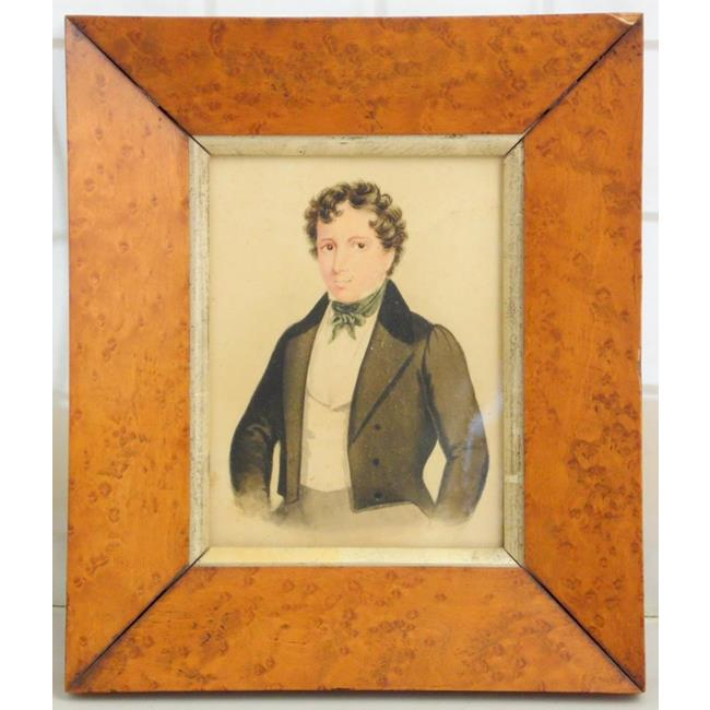 Antique Watercolour of a Gentleman. Early 19thc