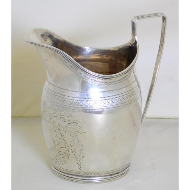 Georgian Sterling Silver Cream Jug c.1818