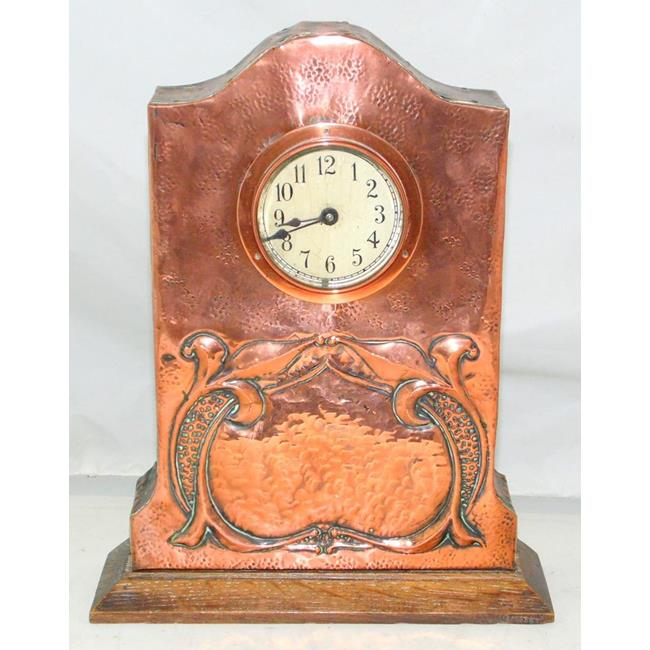 Scarce Art Nouveau Copper Mission Clock.Circa 1900