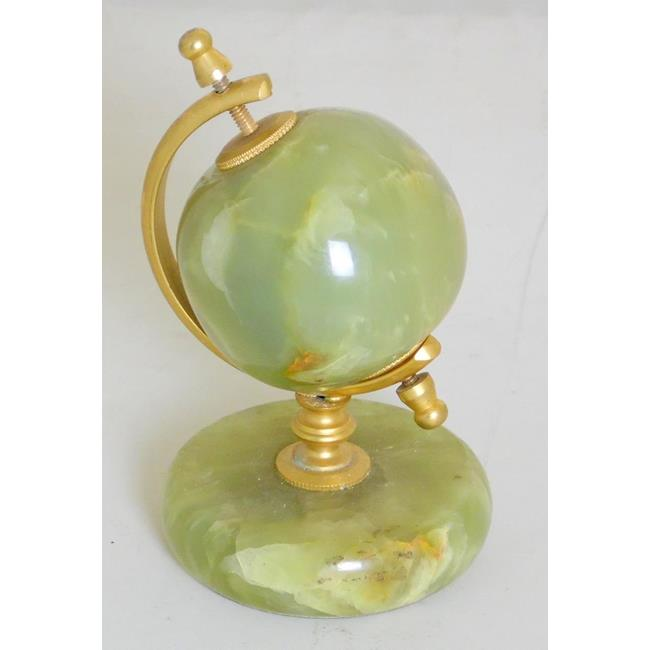Vintage Green Onyx Globe Paper Weight