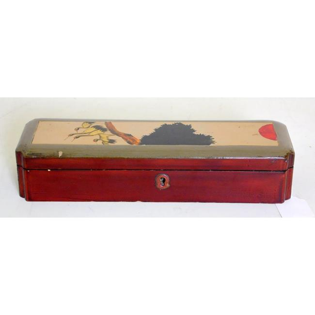 Antique Japanese Lacquerware Desktop Pen Box
