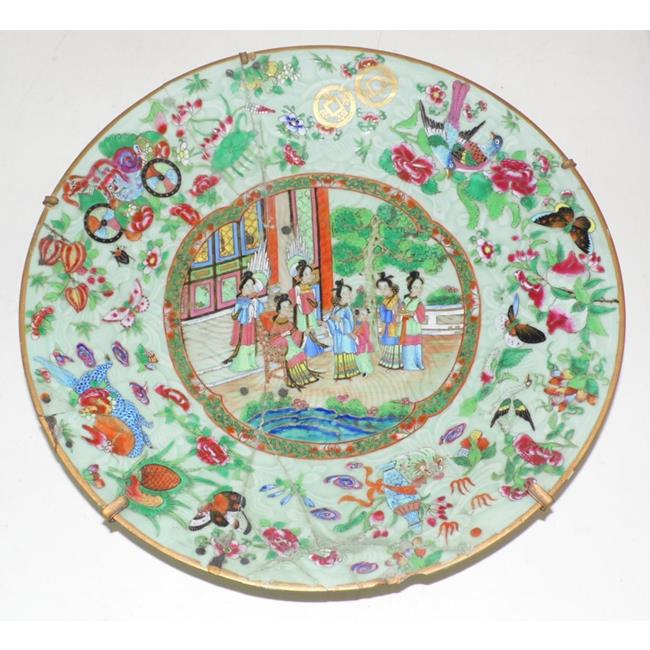 Chinese Canton Famille Rose Charger. 19thc.