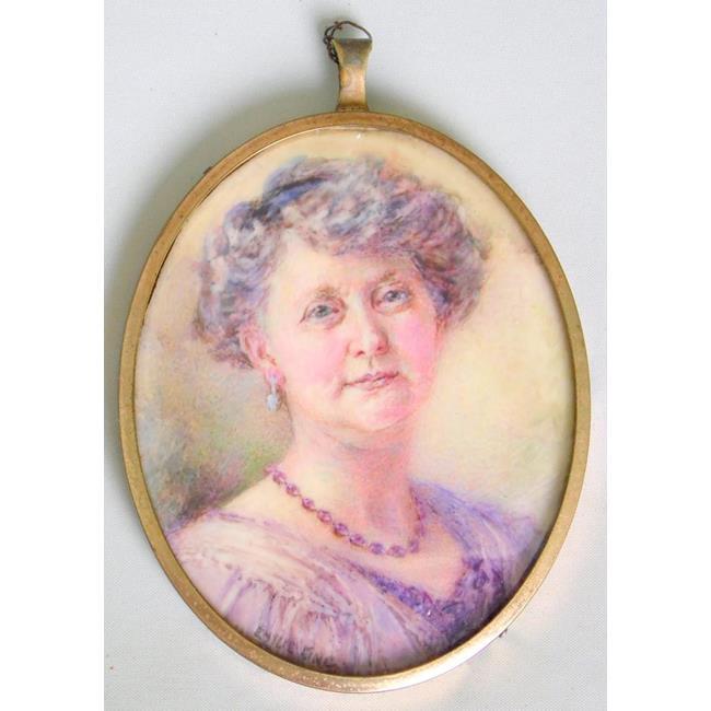 King Emilie 1871-1937. Miniature Portrait