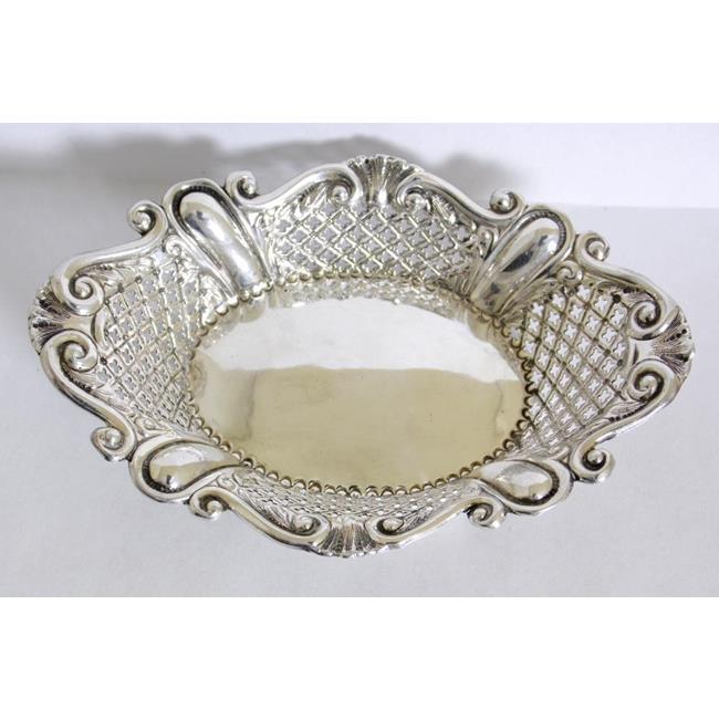 Victorian Sterling Silver Pierced Bon Bon Dish