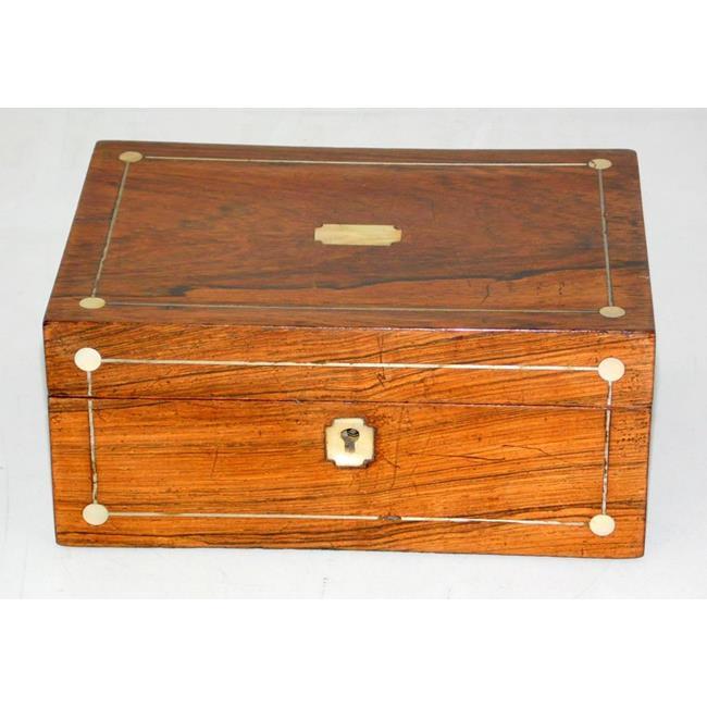 Victorian Rosewood Jewellery Box. 19thc.