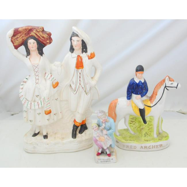 19th Century Victorian Staffordshire Figures.