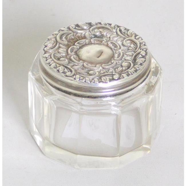Sterling Silver Screw Lidded Rouge Pot c.1903