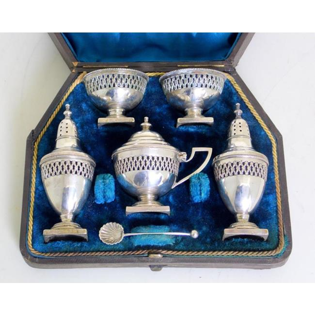 Antique Regency Silver Plate EPNS Cruet Set