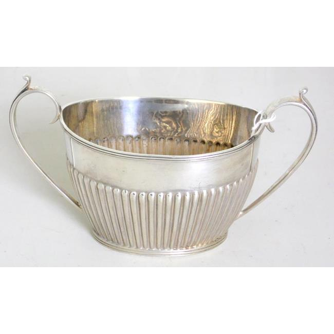 Victorian Sterling Silver Two Handled Sugar Bowl