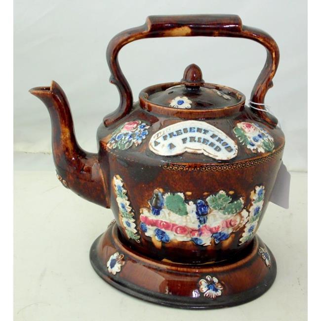 Victorian 'A Present From A Friend'  Tea Pot