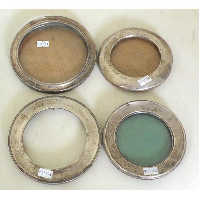 Antique Sterling Silver Circular Photograph Frames