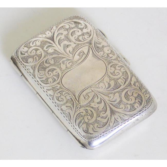 Sterling Silver Engraved Cigarette Case c.1908