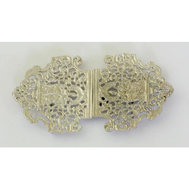 Vintage Cast Sterling Silver Nurses Belt Buckle