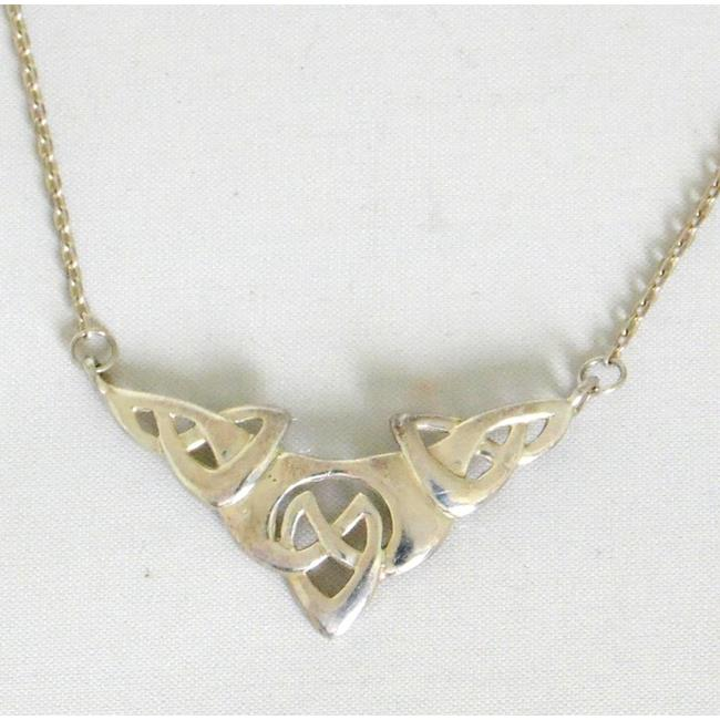 Sterling Silver Celtic Pendant on 16 inch Silver .
