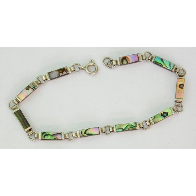 Sterling Silver Shell Mounted Bracelet
