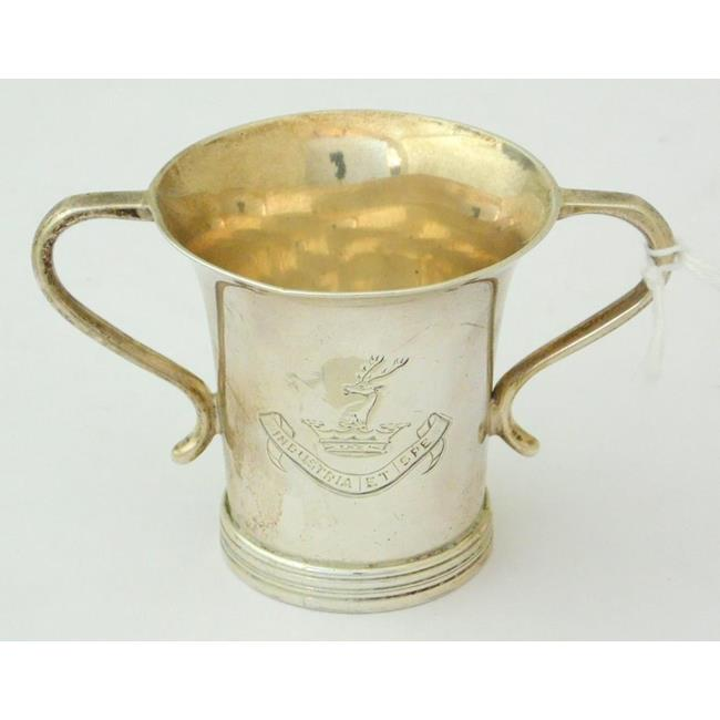 Sterling Silver Two Handled Loving Cup c.1901
