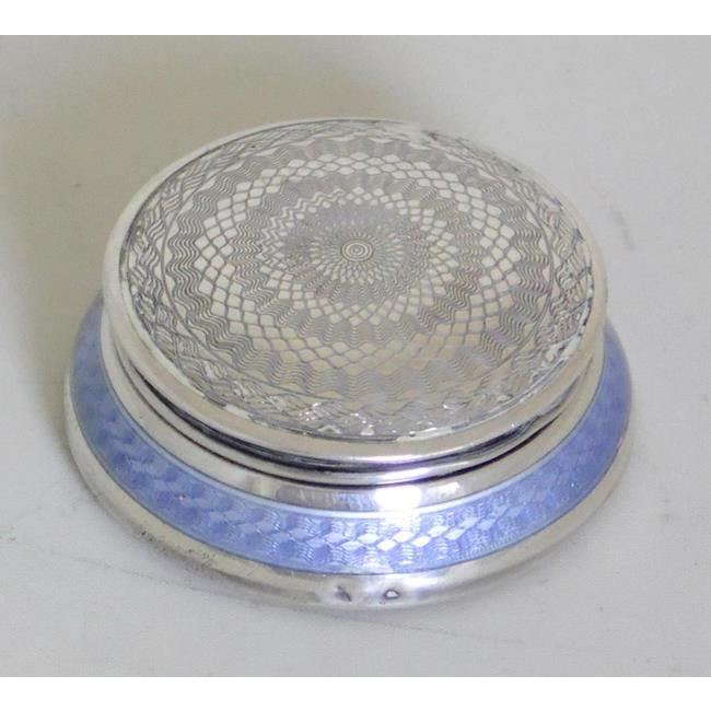 Sterling Silver and Enamel Pill / Snuff Box