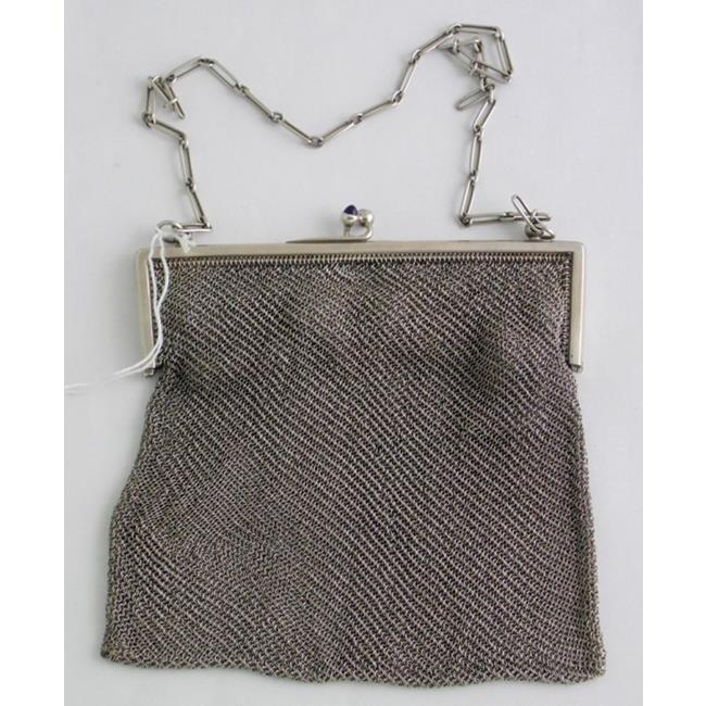 Sterling Silver Mesh Evening Purse.Early 1900s