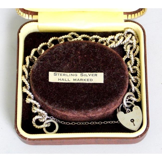 Sterling Silver Rope Bracelet.