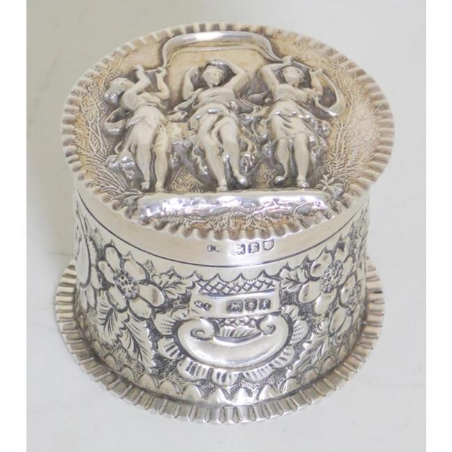 Antique Sterling Silver Lidded Pot c.1901.