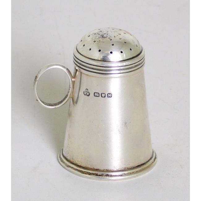 Sterling Silver Flour Dredger Style Pepper Shaker