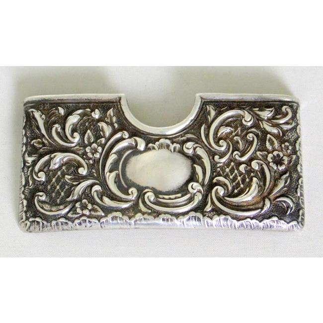 Victorian Sterling Silver Card Holder c.1900