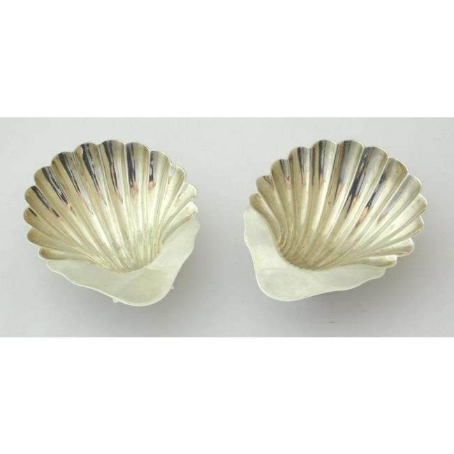 Sterling Silver Pair Shell Shaped Trinket Dishes