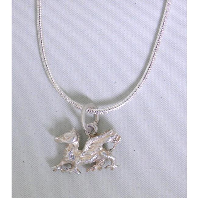 Sterling Silver Welsh Dragon Pendant