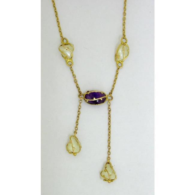 Antique Art Nouveau 9ct Pendant Necklace.