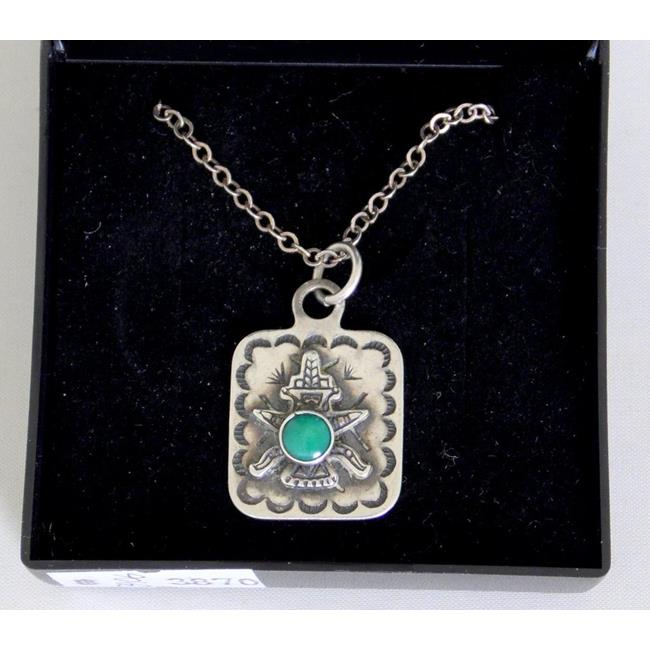Sterling Silver Aztec Figure Pendant on Chain