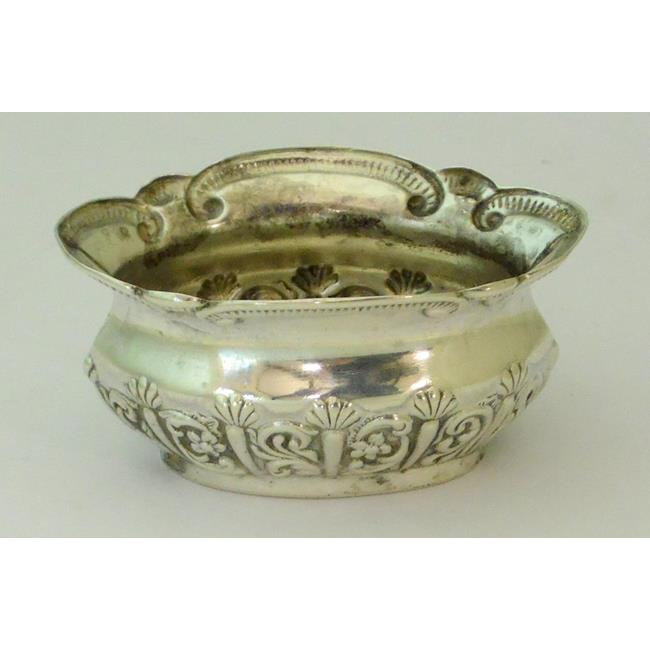 Sterling Silver Art Nouveau Salt Cellar c.1897