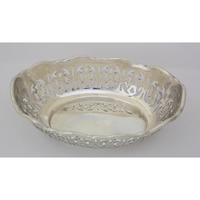 Sterling Silver Oval Pierced Bon Bon Dish