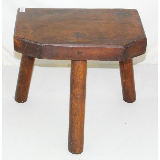 Antique Elm and Ash Country Milking Stool