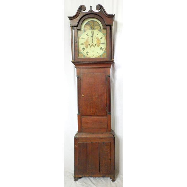 Antique Dolgellau Rolling Moon Oak Longcase Clock
