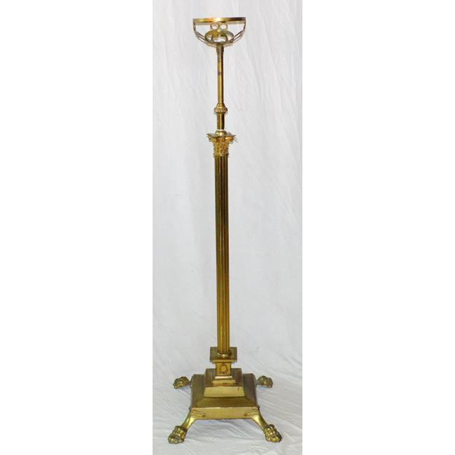 Antique Corinthian Column Oil Lamp Stand