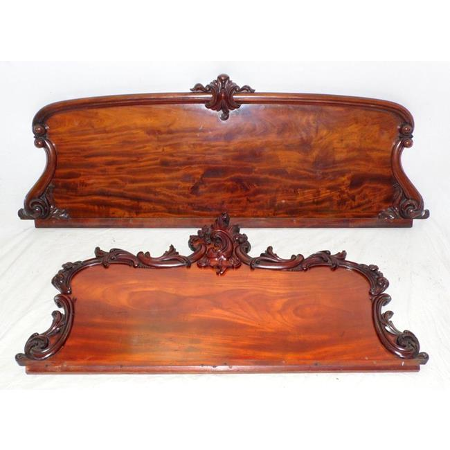 Victorian Carved Mahogany Chiffionier Backs.19thc