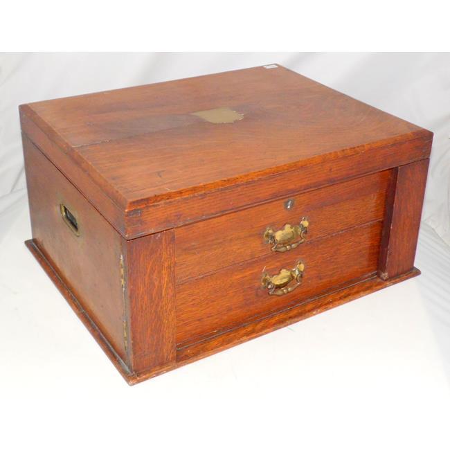 Victorian Oak Collectors Cutlery Cabinet.Circa1900